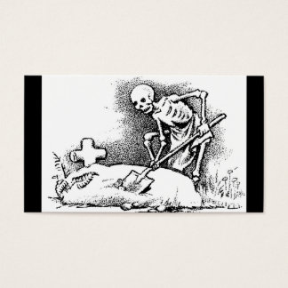 """Mexico's """"Day of the Dead"""" circa 1949 Business Card"""