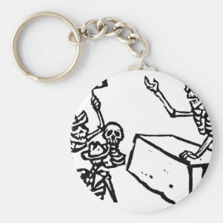 "Mexico's ""Day of the Dead"" ""Dia de los Muertos"" Basic Round Button Key Ring"