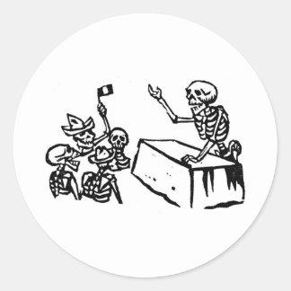 """Mexico's """"Day of the Dead"""" """"Dia de los Muertos"""" Round Stickers"""