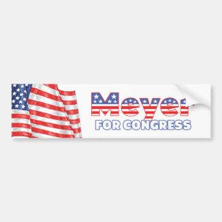 Meyer for Congress Patriotic American Flag Design Bumper Sticker