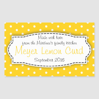 Meyer Lemon Curd yellow food label sticker
