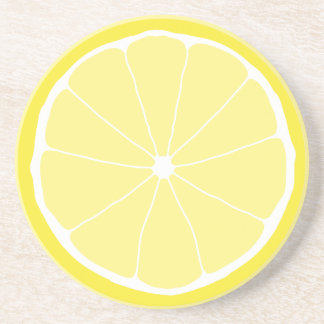 Meyer Lemon drink coaster, lemon kitchen art fruit Beverage Coasters