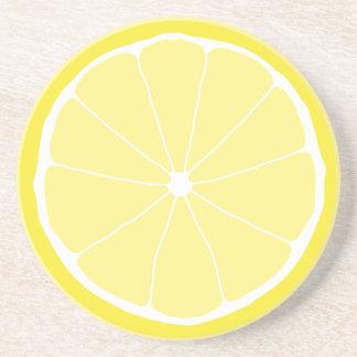 Meyer Lemon drink coaster, lemon kitchen art fruit Coaster