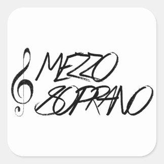 Mezzo Soprano Square Sticker