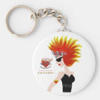 MFH2 - Flaming Hair & Tiara Keychain