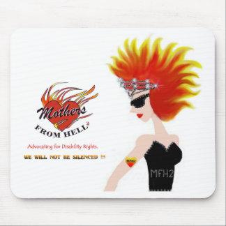 MFH2 - Flaming Hair & Tiara Mousepad