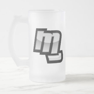 MG Fist Symbol 16 Oz Frosted Glass Beer Mug