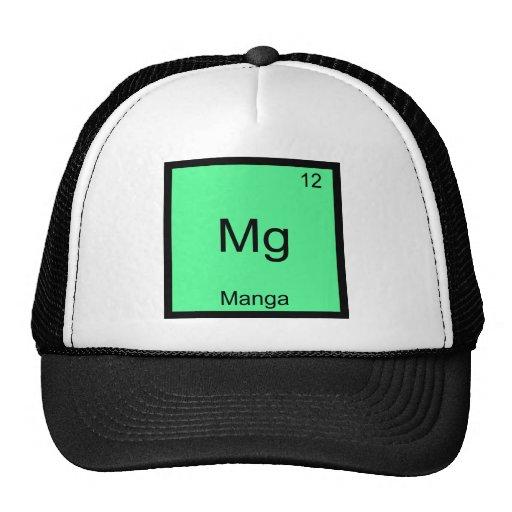 Mg - Manga Comic Funny Chemistry Element Symbol Hats