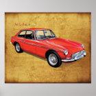 MG MGBgt classic british  Hardtop Poster