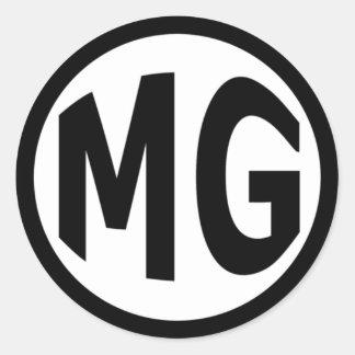 MG ROUND STICKERS