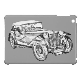 Mg Tc Antique sports Car Illustration iPad Mini Case