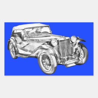 Mg Tc Antique sports Car Illustration Stickers