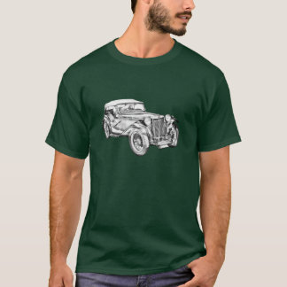 Mg Tc Antique sports Car Illustration T-Shirt