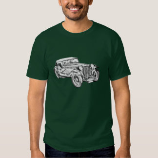 Mg Tc Antique sports Car Illustration Tshirt