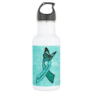 MG Teal  Butterfly Water Bottle