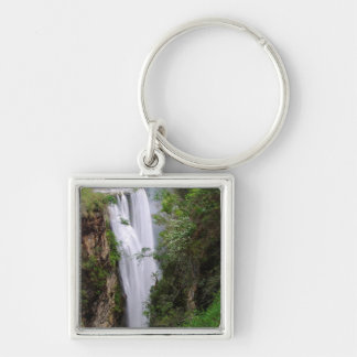 Mgawa Falls, Near Lusikisiki, Wild Coast Silver-Colored Square Key Ring