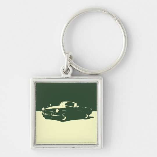 MGB, 1971 - Racing Green on light keychain