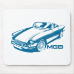 MGB blue Mouse Pads