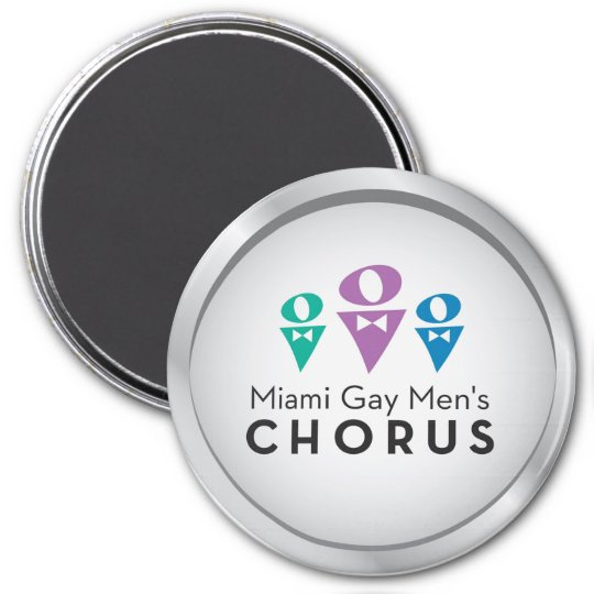 "MGMC Silver Logo 3"" Magnet"