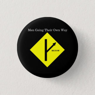 MGTOW Logo Button-Small-Black Background 3 Cm Round Badge
