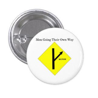 MGTOW Logo Button-Small-White Background 3 Cm Round Badge