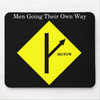 MGTOW Mousepad-Black Background Mouse Mat