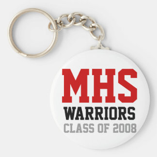 MHS Athletic Print Keychain