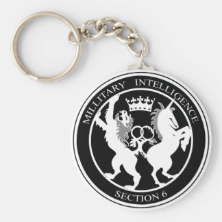 MI6 Logo Basic Round Button Key Ring