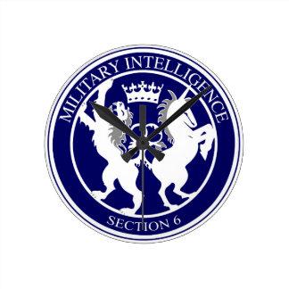 MI6 Logo Button Clocks
