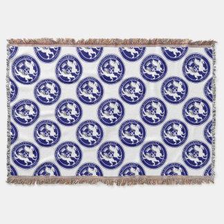 MI6 Logo Button Throw Blanket