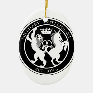 MI6 Logo Ceramic Oval Decoration