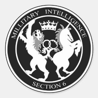MI6 Logo Classic Round Sticker