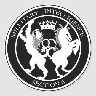 MI6 Logo Round Sticker