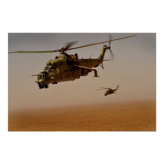 MI-35 Hind Helicopters Poster