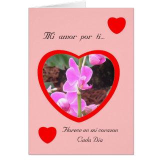 MI amor Por ti San Valentin Cards