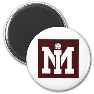 MI Basketball Magnet