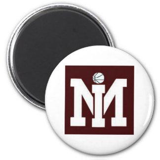 MI Basketball Fridge Magnet