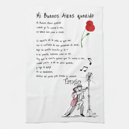 Mi Buenos Aires Querido Tango Towels