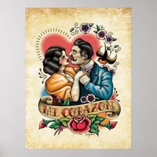 """Mi Corazon"" Poster"