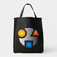 MI cryptic logo tote bag