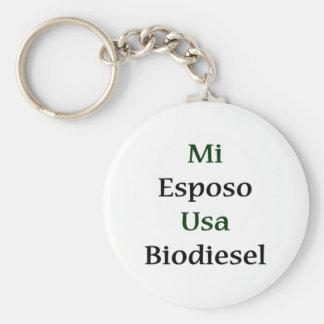 Mi Esposo Usa Biodiesel Basic Round Button Key Ring