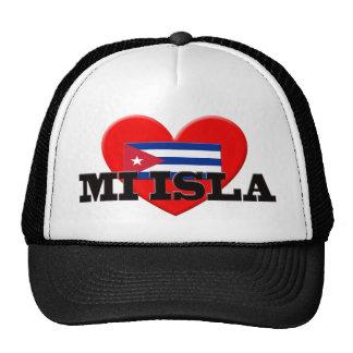 Mi Isla I Love Cuba Trucker Hats