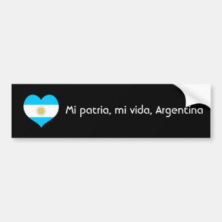 Mi patria, mi vida, Argentina Bumper Sticker