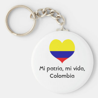 Mi patria, mi vida, Colombia key chain