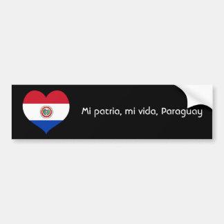Mi patria, mi vida, Paraguay bumper sticker Car Bumper Sticker