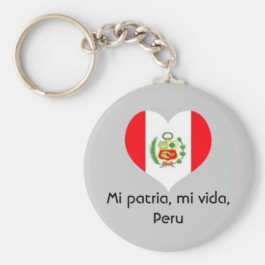 Mi patria, mi vida, Peru key chain