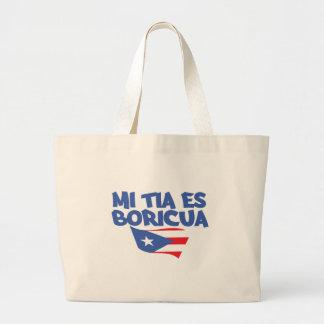 Mi Tia Es Boricua Tote Bag