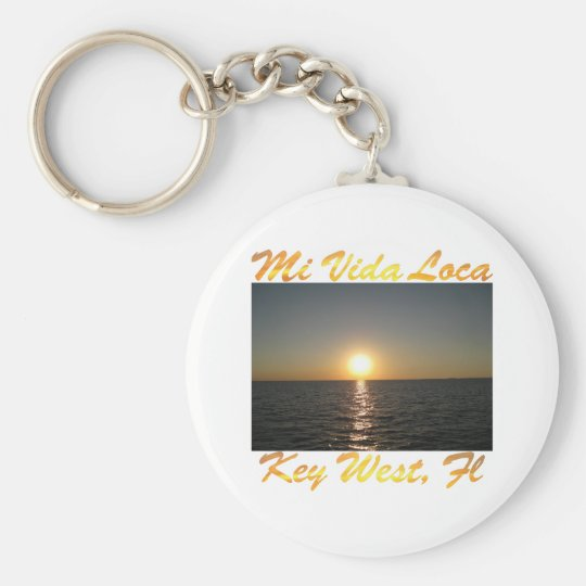 Mi Vida Loca Key West Florida #013 Basic Round Button Key Ring