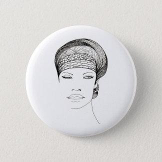 Mia 6 Cm Round Badge