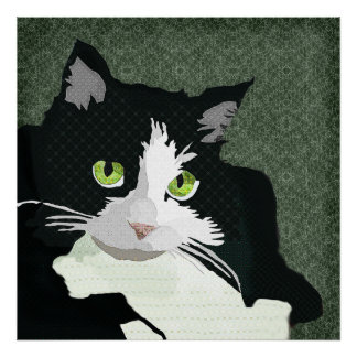 Mia Art Green Canvas Posters